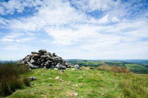 Cairn on Esgair Fraith