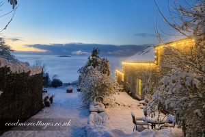 Coedmor Cottages in the snow