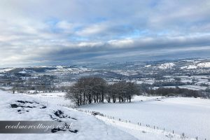 snowy view Carmarthenshire