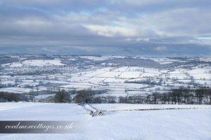 panorama snow scene lampeter
